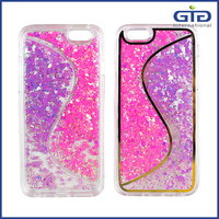 [NP-2527] Double Color Quicksand Liquid Glitter Phone Case for iPhone 6 6 PLUS 5G 4G Covers