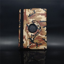 For ipad mini 360 degree Rotating camouflage flip Pu leather case