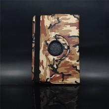 For ipad mini 360 degree Rotating camouflage flip Pu leather case