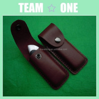 Genuine leather sheath for knife for pocket small folding Lock Knife