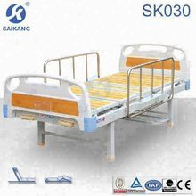 SK030 ABS hospital manual bed with wooden bed surface