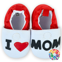 2015 Latest Designed Baby Shoes Wholesale Love Mom Printed Crib Shoes Newborn Infant Baby Shoes
