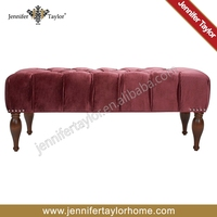 Luxury furniture/classic bedroom bed bench