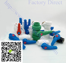 Factory direct pp-r pprc compact ball valve with brass ball insert ppr double union ball valves