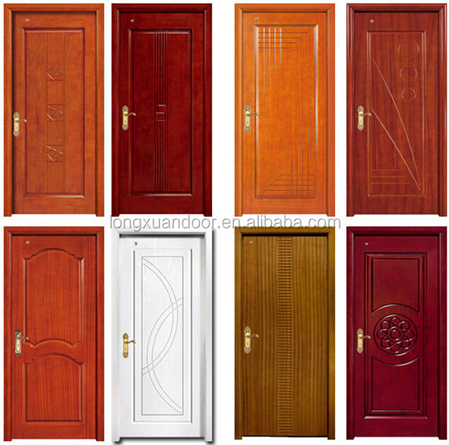 Modernos dise os de puerta de madera s lida puerta de for Puertas de madera para dormitorios
