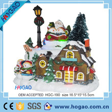 2015 new christmas decorative resin house, led light up house for home decor, popular christmas gifts