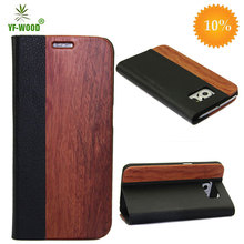 Handwork Wooden case for Samsung galaxy s6 genuine leather mobile phone magnet cover