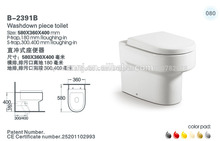 ( b- 2391a) cerámica baldeo p- trampa de dos piezas de baño