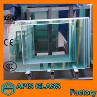 Irregular toughened glass with vairous shape and accept customize