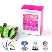 Printing folding pink gift perfume box design