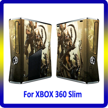 Hot Selling Vinyl Skin For Xbox 360 Slim Console Decal Skin Sticker For Xbox 360