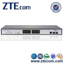 ZTEcom Reliable 10/100/1000Mbps PoE + 2 Gigabit SFP 16 port gigabit poe switch