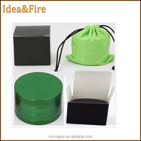 Factory directly Colorful Magnetic OEM 63mm Aluminium dry herbal crusher Herb grinder