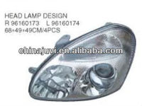 High Quality/cheap halogen Auto head lamp desigh for Daewoo NUBIRA 00