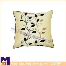 elegant plants applique handmade embroidery cushion covers soft embroidery silk cushion covers