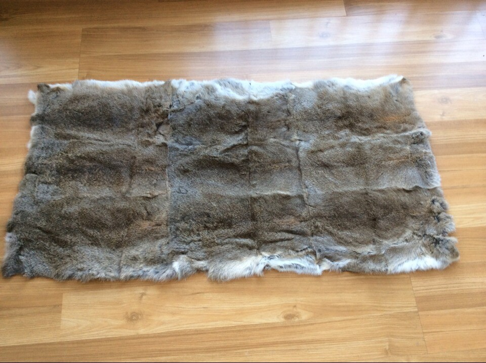 Genuine Rabbit Fur Area Rug Home Splicing Rabbit Rug