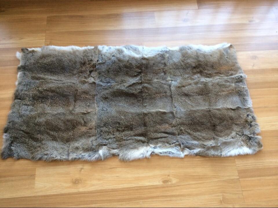Genuine Rabbit Fur Area Rug Home Splicing Rabbit Rug