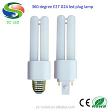 latest product best price 12w latest E27 G24 led bulb e27 to g24 adapter