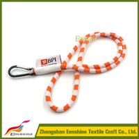 Wholesales China Round Jacquard Rope Cord Lanyard with Woven Label
