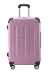 Abs hard case luggage with zipper wheel alumunium trolley systems