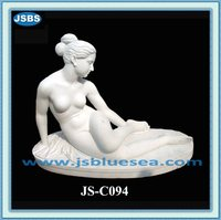 Carved Natural Stone Nude Sexy Girl Statue