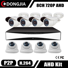 Dongjia H.264 P2P Support Smart Phone View Security Camera Kit 8CH 16 Ch CCTV System