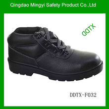 basic embossed leather safety working boots