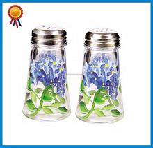 Pintado de lujo botellas de vidrio de sal