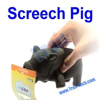 2015 Cheap Gadget Black Small Size Funny Screech/Screaming/Shrilling Pig Toy For Prank Joke