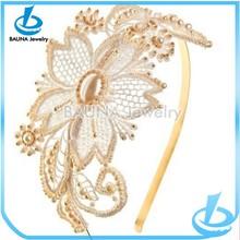 Elegant beautiful wedding lace hair band wholesale