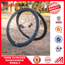 2015 Ceramic bearing clincher bicycle wheel 38mm carbon wheels with taiwan hub