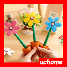 UCHOME Creative sun flower shape ballpoint pen/flower pot shape pen