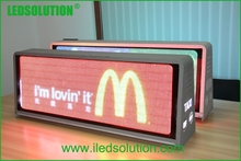 wateproof outdoor SMD taxi top video advertising P6 led displays