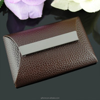 Brown PU leather business card case VD-P62