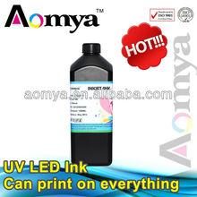 LED UV ink for Epson / Ricoh / Konica uv inkjet printer ink , can print all material
