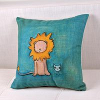 Creative Little Lion Pattern Cushion Cover Hand Embroidery Designs Decorative Pillows Case Home Decoration Sex Toys