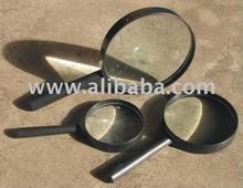 Magnirfiers with glass lenses