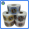 customized logo sticker in roll, printing round shape adhesive label