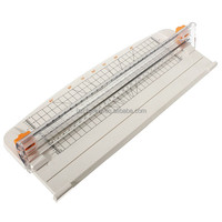 Hot Sale New White A4 Guillotine Alignment Ruler Daily Typical Paper Label Cutter Trimmer Black-Orange Plastic Cutter