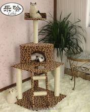 Dspet Multi-level leopard skin cat tree cat products