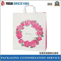 Pink Rose paper bag for shopping