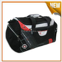 New black travel bag with shoe compartment