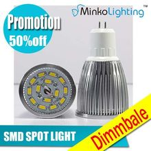 Dimmable LED bulb GU10 5W SMD LED light