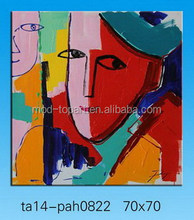 handpainted abstract portrait painted on canvas