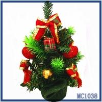 2016 wholesale artificial christmas tree multicolor christmas ball and gift bag american mini christmas tree