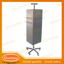 retail shop 4 sided rotating display stand rack