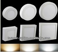 small led panel light SMDLED 2835 Round Square Shape Surface Mounted