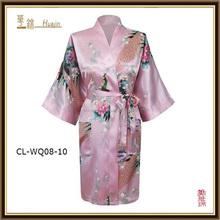 brand new plus size sexy satin short robe nightgown