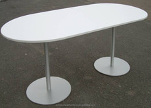 White artificial marble round stone top restaurant dining table stone round table tops