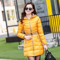 Fasion Han edition belt down jacket winter coat jacket for female women in long style manufacturer